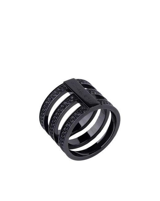 MICHAEL Michael Kors - Black Ring - Lyst