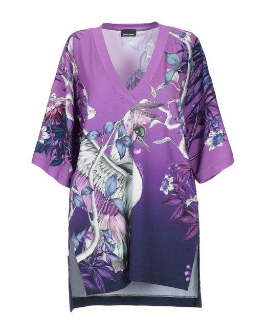 T-shirt Just Cavalli en coloris Purple