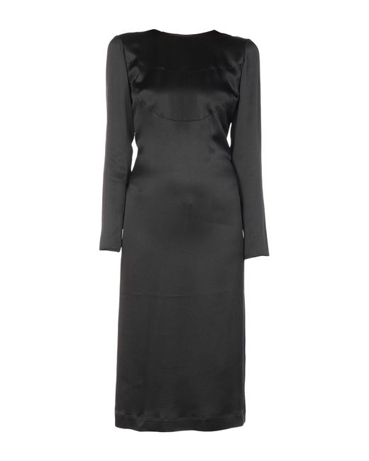 Marco De Vincenzo Black 3/4 Length Dress