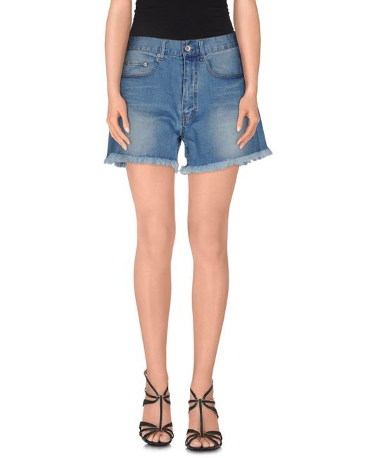 5preview - Blue Denim Shorts - Lyst