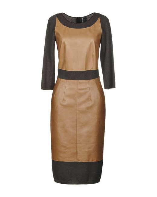 Fontana Couture - Natural Knee-length Dresses - Lyst