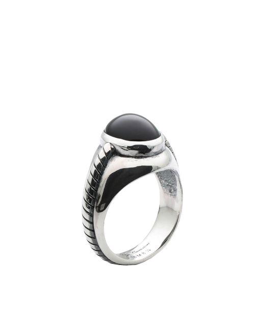 Ugo Cacciatori Ring in Metallic für Herren