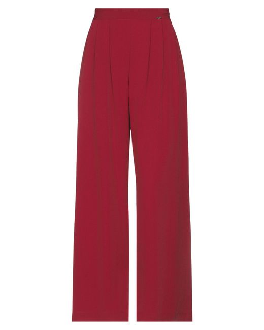 LE COEUR TWINSET Red Casual Trouser