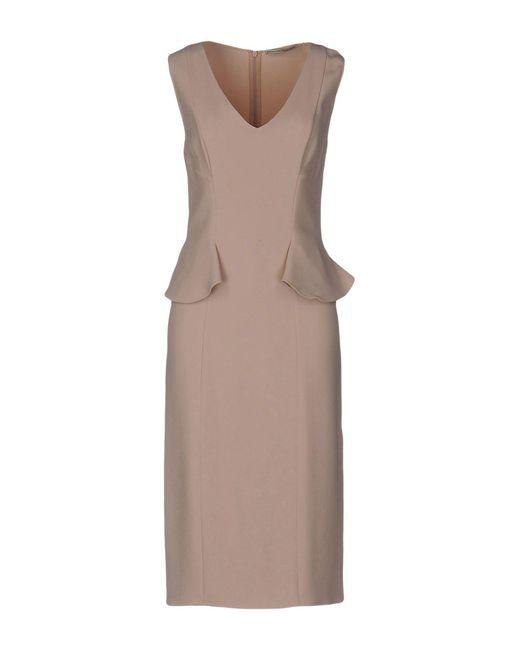 Ermanno Scervino - Natural Knee-length Dress - Lyst