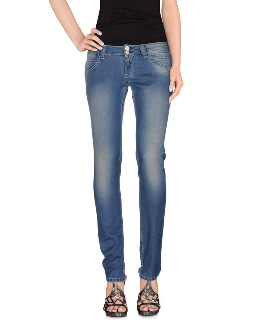 Manila Grace - Blue Denim Pants - Lyst