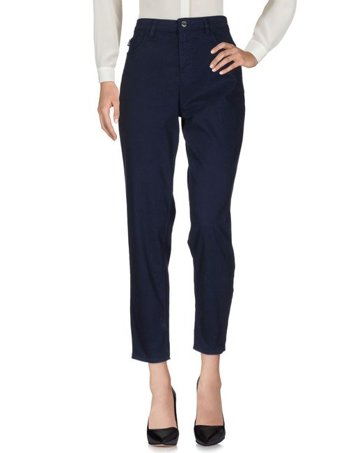 Love Moschino | Blue Casual Pants | Lyst