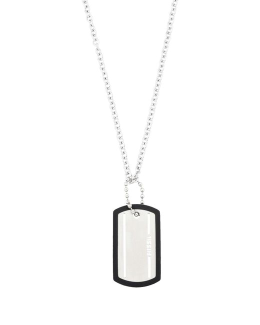 Fossil - Metallic Necklace for Men - Lyst
