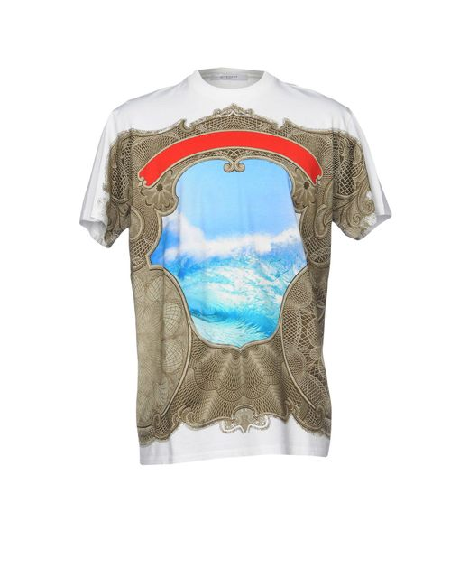 Lyst givenchy t shirt in blue for men Givenchy t shirt price