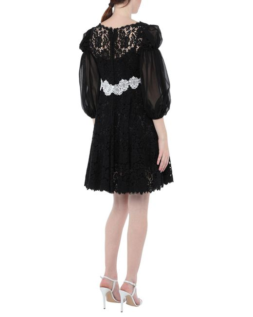 Robe courte Dolce & Gabbana en coloris Black