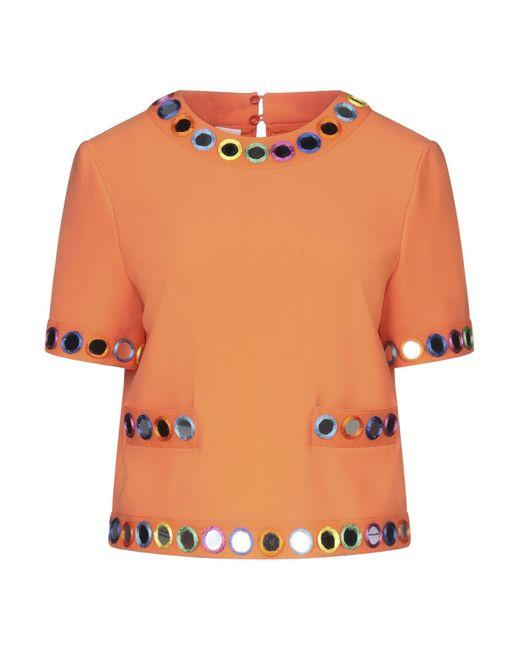 Moschino Blusa de mujer de color naranja ZlYmH