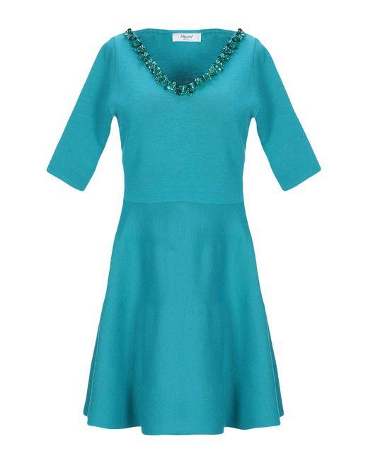 Blugirl Blumarine Robe courte femme de coloris bleu EyCDQ