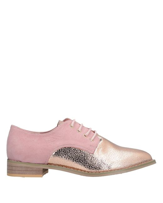 Ichi - Pink Lace-up Shoe - Lyst