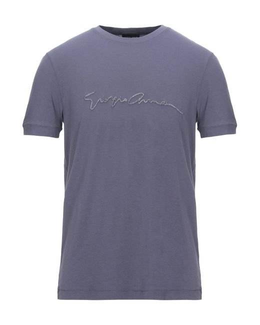 T-shirt Giorgio Armani pour homme en coloris Purple