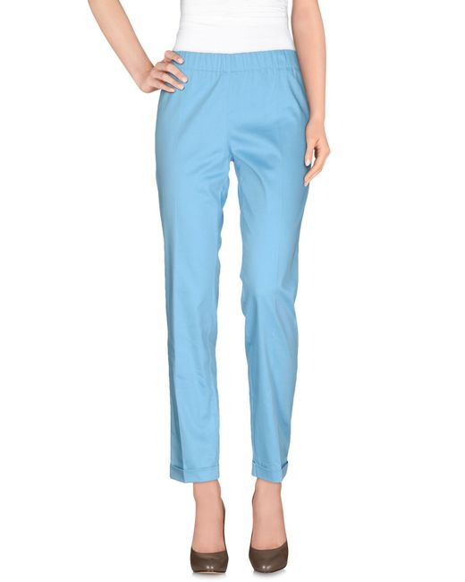 P.A.R.O.S.H. - Blue Casual Pants - Lyst