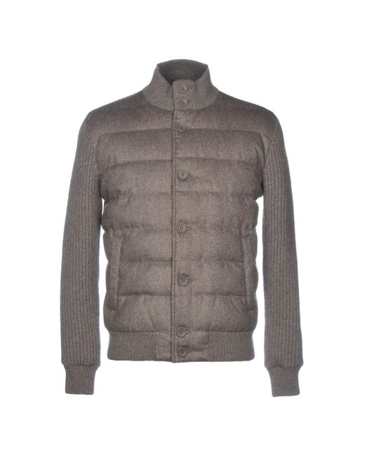 Herno Gray Down Jacket for men