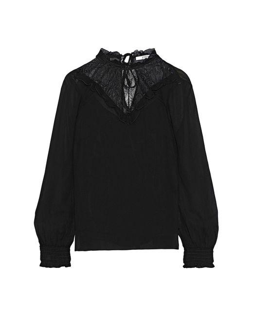Blusa di 10 Crosby Derek Lam in Black