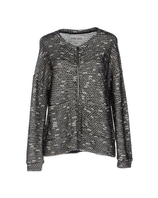 5preview - Black Cardigan - Lyst