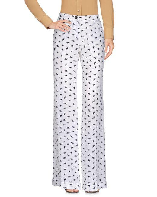 Miu Miu White Casual Trouser