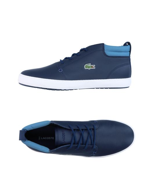 Lacoste - Blue High-tops & Sneakers for Men - Lyst