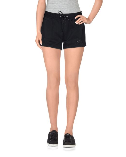 PUMA - Black Shorts - Lyst