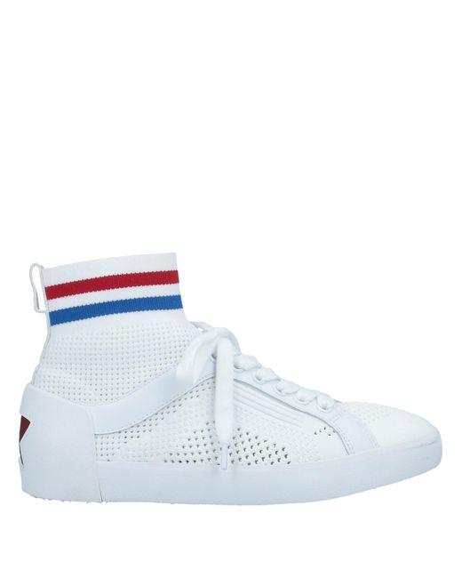 Ash Sneakers abotinadas de mujer de color blanco