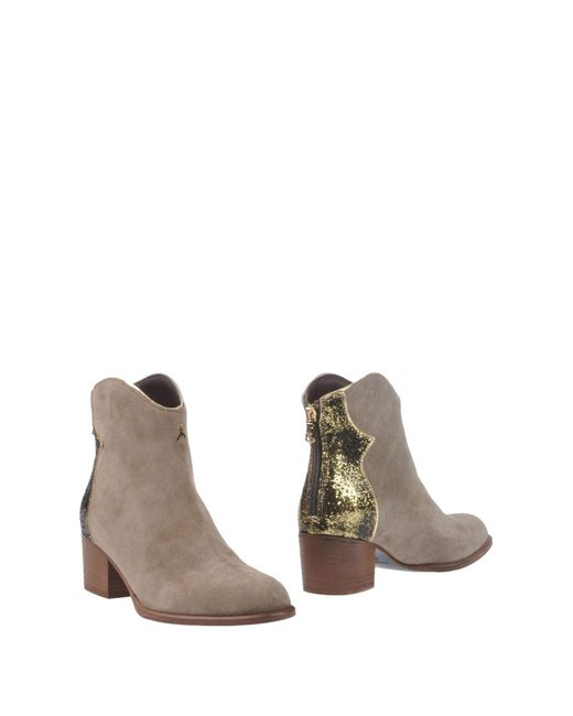 Patrizia Pepe - Gray Ankle Boots - Lyst