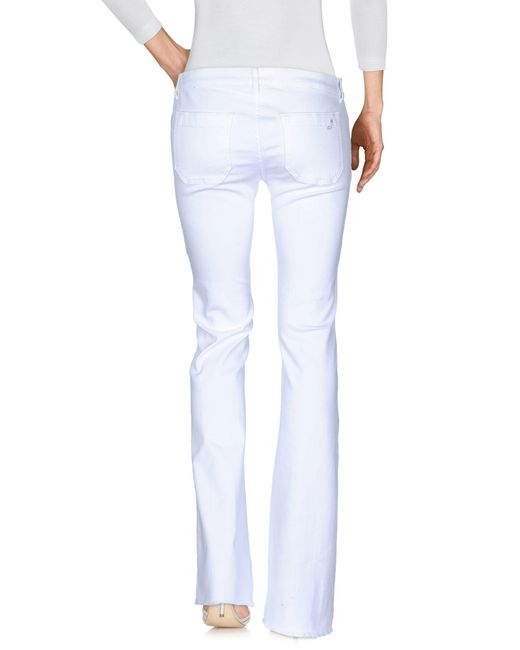 The Seafarer Pantalon en jean femme de coloris blanc