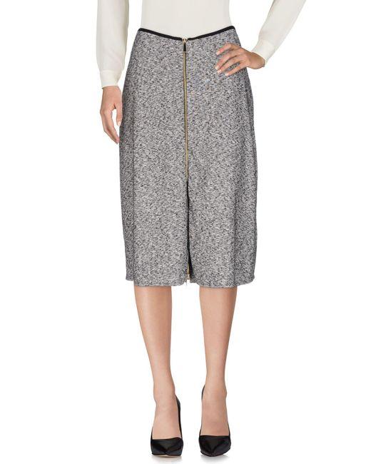 Pinko Gray 3/4 Length Skirt