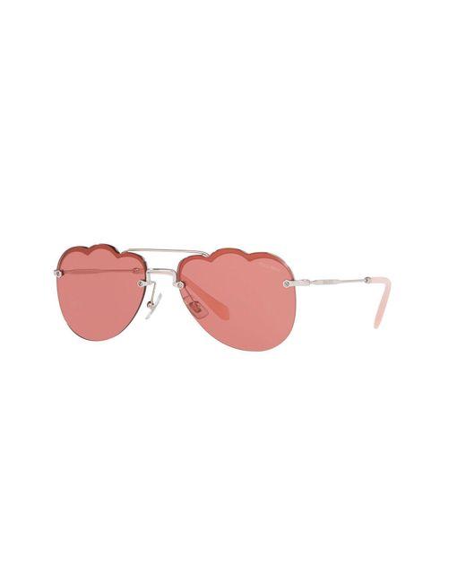Miu Miu Metallic Sonnenbrille