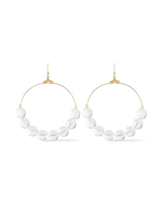 Kenneth Jay Lane White Earrings