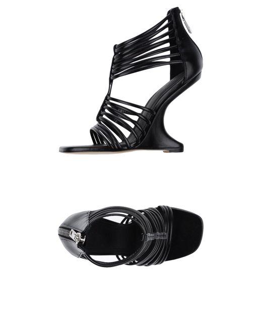Rick Owens - Black Sandals - Lyst