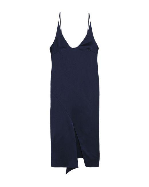 Tibi Blue Knielanges Kleid
