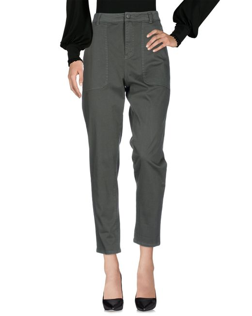 Scee By Twin-set - Green Casual Trouser - Lyst