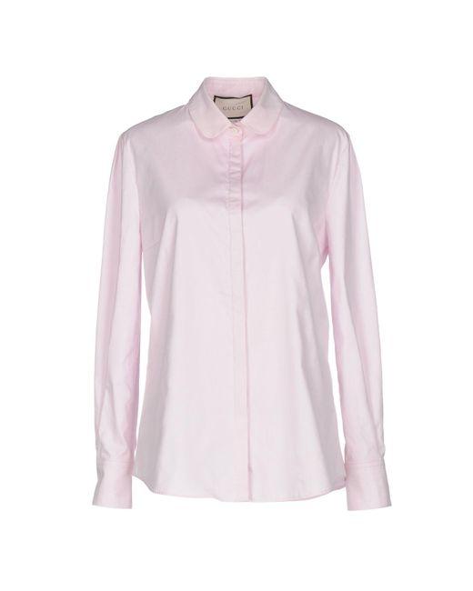 Chemise Gucci en coloris Pink