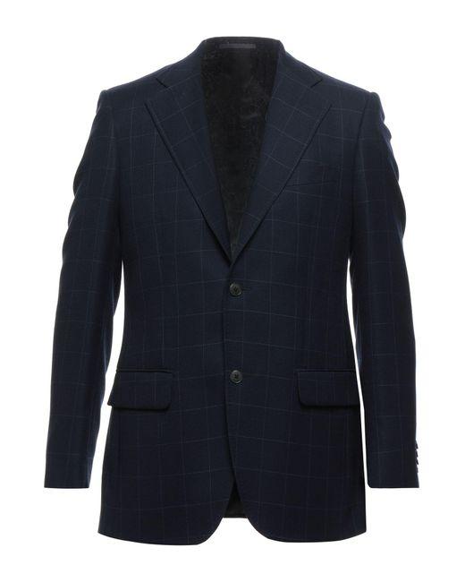 Lubiam Blue Suit Jacket for men