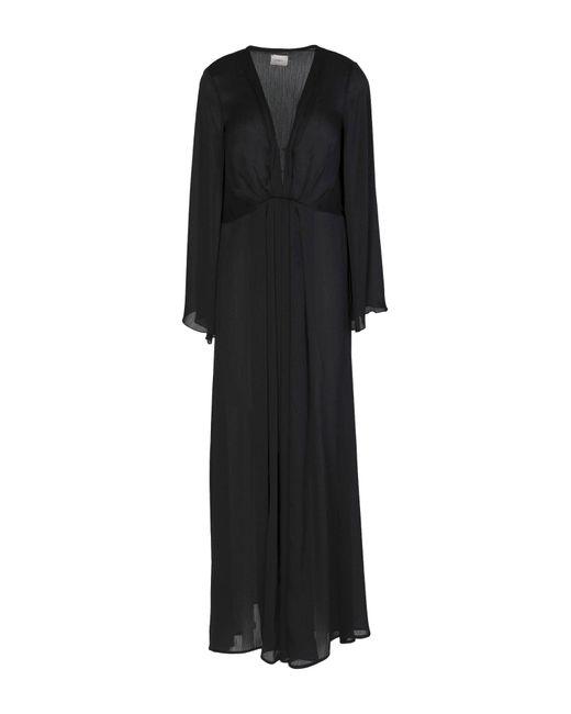 ..,merci Vestido largo de mujer de color negro