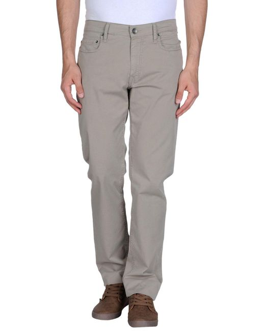 Del Mare 1911 - Gray Casual Pants for Men - Lyst