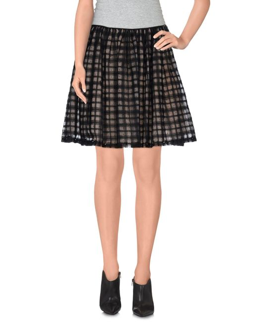 RED Valentino - Black Mini Skirts - Lyst