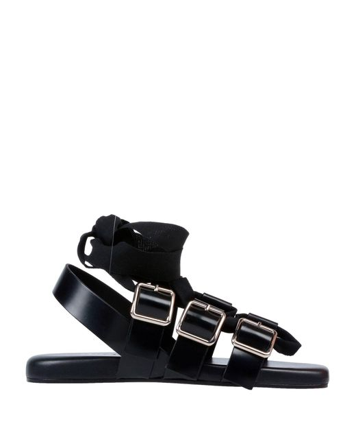 Jil Sander Black Sandals