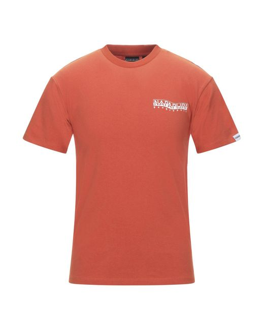 T-shirt di Napapijri in Orange da Uomo