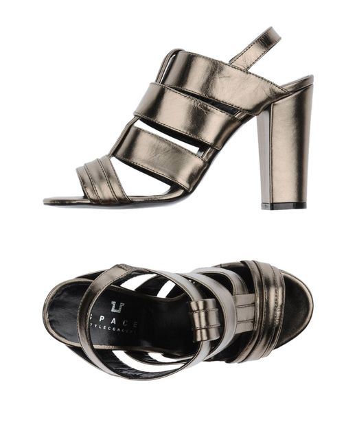 Space Style Concept - Black Sandals - Lyst