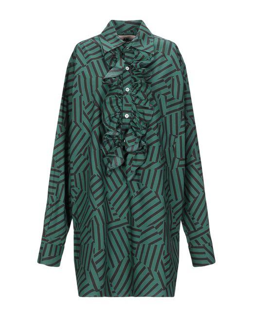 Plan C Camisa de mujer de color verde HapjB