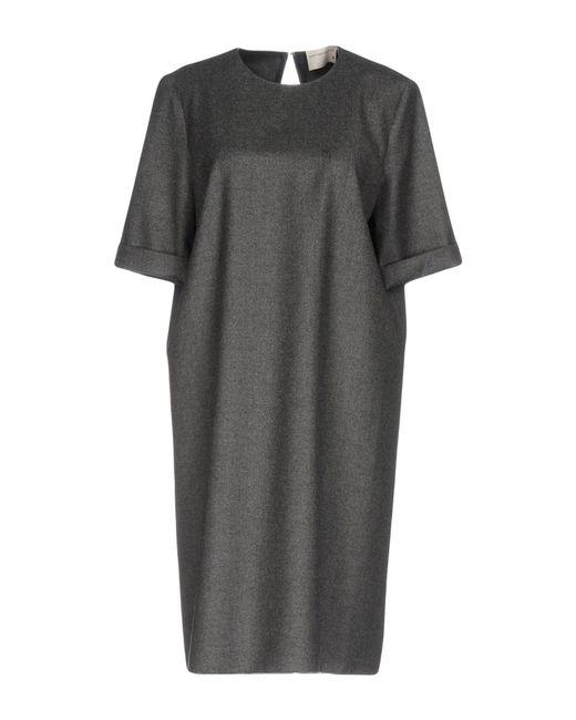 Maison Rabih Kayrouz   Gray Knee-length Dress   Lyst