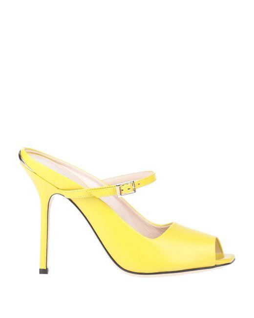 Pollini Yellow Sandals