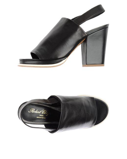 Robert Clergerie - Black Sandals - Lyst