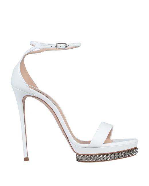 Casadei White Sandals