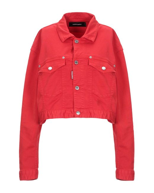 DSquared² Red Jeansjacke/-mantel