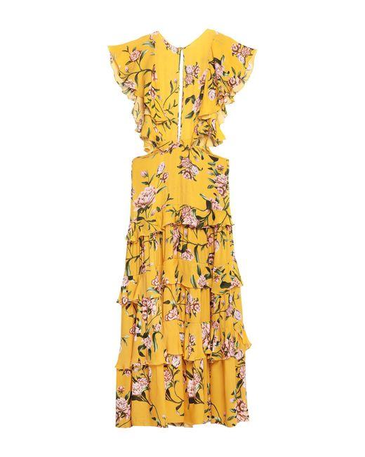 Vestido largo Johanna Ortiz de color Yellow