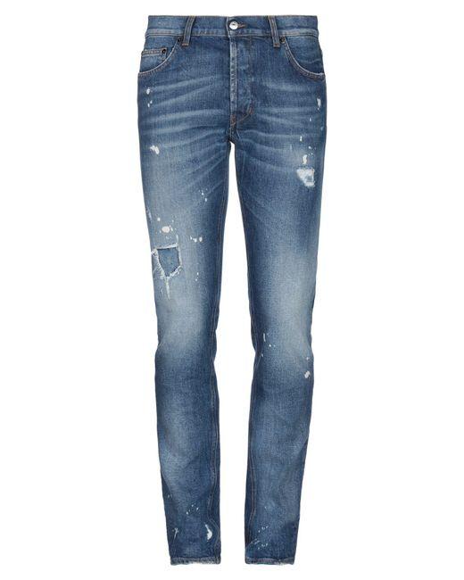 Aglini Blue Denim Pants for men