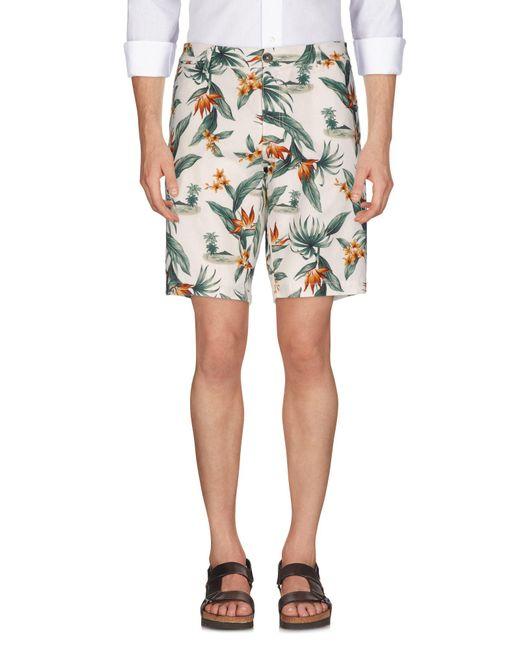 Eleventy White Bermuda Shorts for men